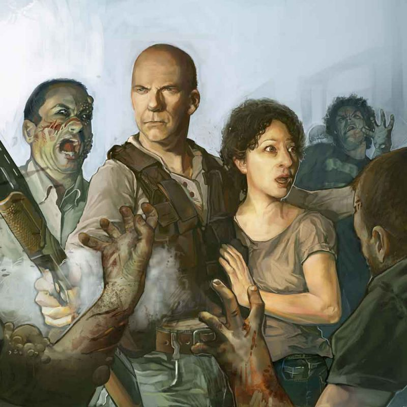 Zombie Attack Portrait
